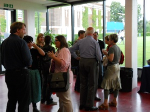 Delegates mingling at the NSRN 2012 Conference in London.